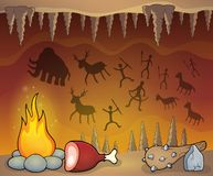 Prehistoric cave thematic image 1 Royalty Free Stock Photo