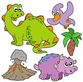 Prehistoric collection. On white background -  illustration Stock Photos