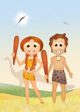 Prehistoric couple Royalty Free Stock Images