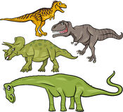 Prehistoric dinosaurs cartoon set Royalty Free Stock Photos