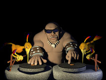 Prehistoric DJ Royalty Free Stock Image