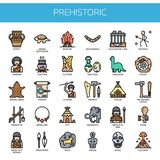 Prehistoric Elements , Pixel Perfect Icons Royalty Free Stock Images