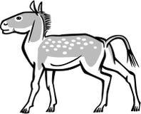 Prehistoric Equine. Illustration of a prehistoric horse mesohippus or eohippus royalty free illustration