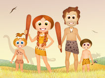 Prehistoric family Royalty Free Stock Images