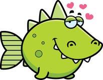 Prehistoric Fish in Love Stock Images
