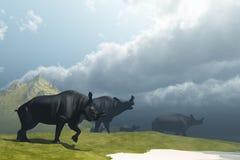 Prehistoric Fog Stock Photography