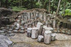 Prehistoric formations landscape Stock Photos