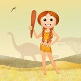 Prehistoric girl Stock Images