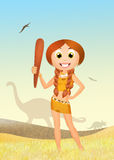 Prehistoric girl Stock Photography