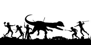 Prehistoric hunt Royalty Free Stock Photo