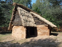 Prehistoric hut, Krzemionki, Poland Royalty Free Stock Images