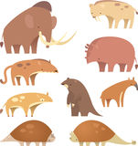 Prehistoric mammals. Cartoon Prehistoric mammals, be good Stock Photo
