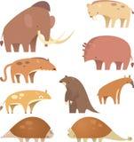 Prehistoric mammals Stock Photo