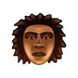 Prehistoric man face  on white vector Stock Photo