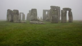 Stonehenge on a Misty Morning stock photos