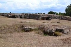 Prehistoric Necropolis In Sardinia, Italy Stock Photography