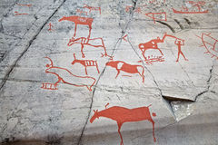 Prehistoric painting stock photography