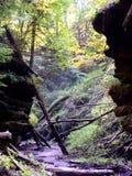Prehistoric Path. Riverbed pathway through prehistoric canyon Stock Photography