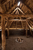 Prehistoric Reconstruction of a Stone Age House Stock Image