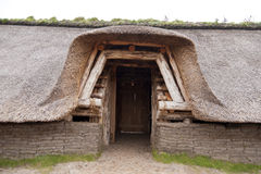 Prehistoric Reconstruction of a Stone Age House Royalty Free Stock Photo