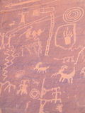 Prehistoric rock painting Stock Images