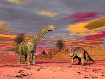 Prehistoric scene Stock Photos