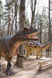 Prehistoric Scene with Dinosaur Royalty Free Stock Images