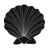 Prehistoric seashell icon in black style isolated on white background. Dinosaurs and prehistoric symbol stock vector Stock Photos