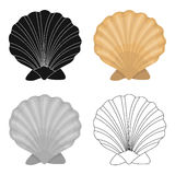 Prehistoric seashell icon in cartoon style isolated on white background. Dinosaurs and prehistoric symbol stock vector Royalty Free Stock Image