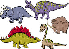 Prehistoric set cartoon illustration Royalty Free Stock Photography