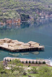 Prehistoric settlement at the Ohrid Lake Stock Photos