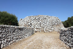 Prehistoric settlement of Trepuco, Es Castell, Minorca, Balearic Royalty Free Stock Photos