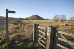 The prehistoric Silbury Hill near Avebury in Wiltshire England Stock Photography