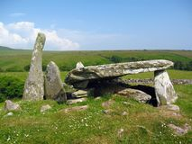 Dolmen at Cairnholy Cairns, Dumfries and Galloway, Scotland. The prehistoric site of Cairnholy contains two Neolithic chambered tombs with the remains of Stock Image