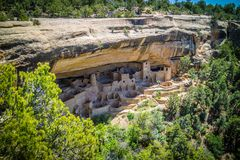 The Cliff Palace in Mesa Verde National Park, Colorado royalty free stock image