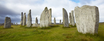 Prehistoric site with menhirs in Scotland. Callanish. Lewis isle Stock Image