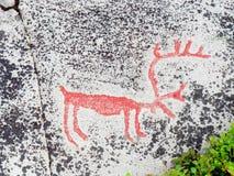 Prehistoric Stone Carving Royalty Free Stock Photo