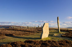Prehistoric stone circle and henge. Ring Of Brodgar, Orkney. World Heritage Site Stock Photography