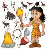 Prehistoric theme set 3. Eps10 vector illustration Stock Images