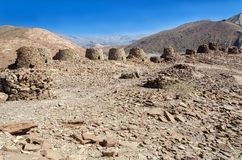 Prehistoric Tower Tombs at Al Ain. The beehive tombs of Sultanate of Oman Royalty Free Stock Images