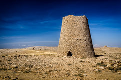 Prehistoric Tower Tombs at Shir / Jaylah. The beehive tombs of Sultanate of Oman Royalty Free Stock Photos