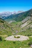 Prehistoric Tumulus in the Spanish. Pyrenees Royalty Free Stock Photo