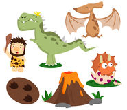 Prehistoric Vector Set Royalty Free Stock Photo