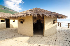 Prehistoric Village Near Ohrid Town - Museum. Stock Photo