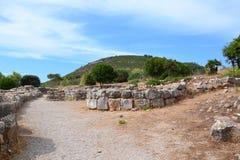 Prehistoric village Palmavera, Sardinia Stock Image