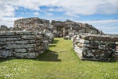 Prehistoric village Scotland. A prehistoric village in Scotland Stock Photo