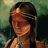 Prehistoric warrior princess Stock Photo