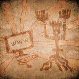 Prehistoric web Stock Image