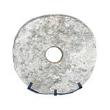 Prehistoric wheel. Prehistoric stone wheel isolated included clipping path royalty free stock photo