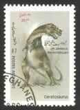 Prehistorical zwierzęta, Ceratosaurus Fotografia Royalty Free